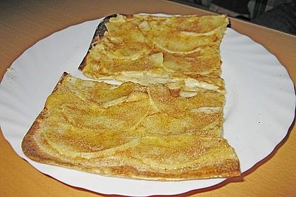 Flammkuchen elsässer Art, süßer Flammkuchen 36