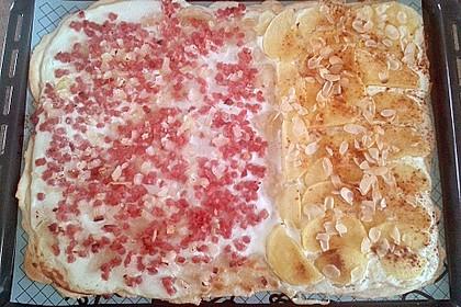 Flammkuchen elsässer Art, süßer Flammkuchen 20