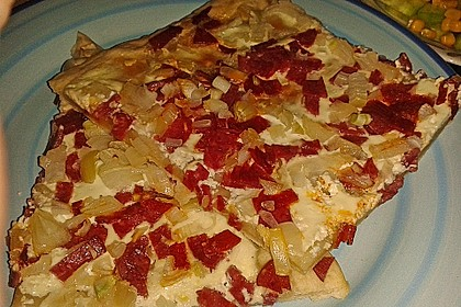 Flammkuchen elsässer Art, süßer Flammkuchen 17
