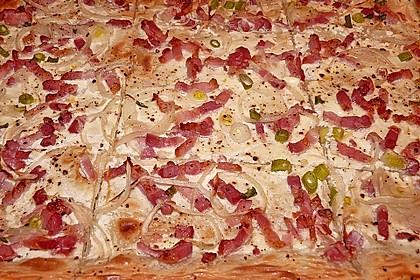 Flammkuchen elsässer Art, süßer Flammkuchen 3