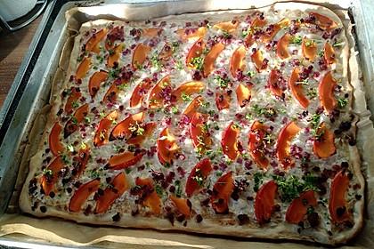 Flammkuchen elsässer Art, süßer Flammkuchen 24