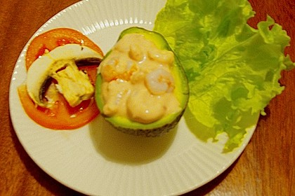 avocado mit krabben gef llt von ralf67. Black Bedroom Furniture Sets. Home Design Ideas