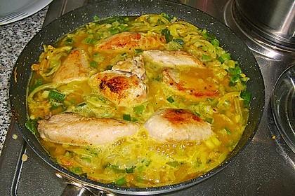 Geflügel - Curry mit Reis
