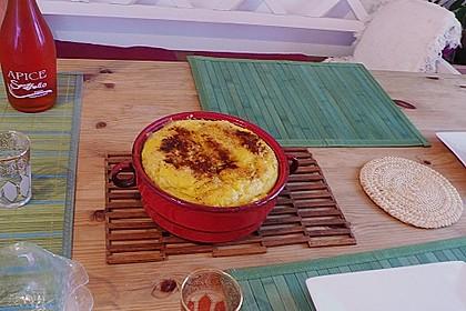 Maisgrieß - Soufflé mit Käse