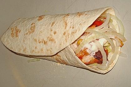 Feurige Hähnchen - Tortillas 1
