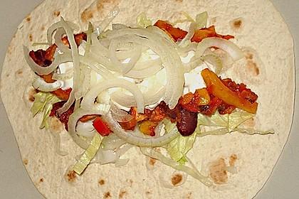 Feurige Hähnchen - Tortillas 4
