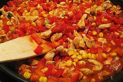 Feurige Hähnchen - Tortillas 9