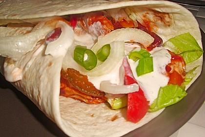 Feurige Hähnchen - Tortillas 5