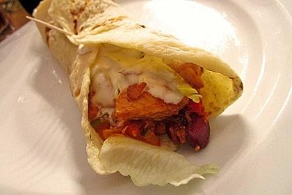 Feurige Hähnchen - Tortillas 0