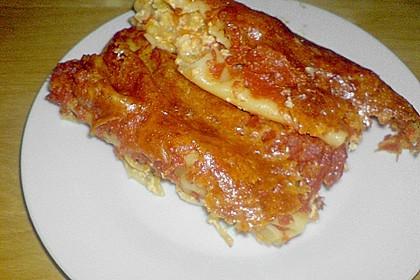 Cannelloni mit cremiger Gemüse-Käse-Füllung 85