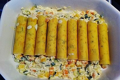 Cannelloni mit cremiger Gemüse-Käse-Füllung 44