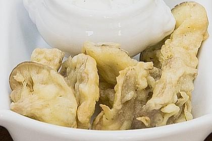Gebackene Austernpilze mit Dip