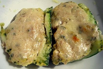 Zucchini mit Thunfisch - QimiQ - Füllung
