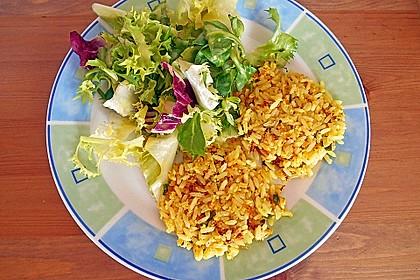 Reis - Taler mit Salat