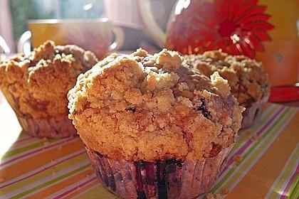 Himbeer - Muffins mit Streuseln 16