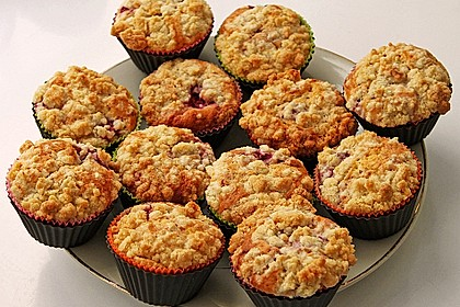 Himbeer - Muffins mit Streuseln 11
