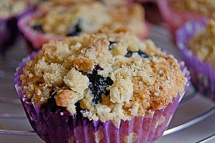 Himbeer - Muffins mit Streuseln 2