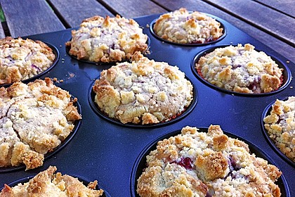 Himbeer - Muffins mit Streuseln 5