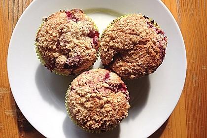 Himbeer - Muffins mit Streuseln 19
