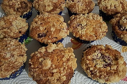 Himbeer - Muffins mit Streuseln 26