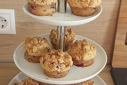 Himbeer - Muffins mit Streuseln 1