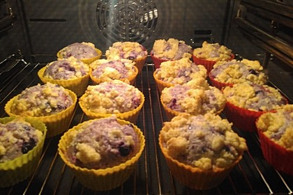 Himbeer - Muffins mit Streuseln 10