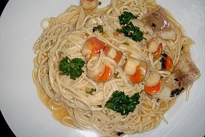 Spaghetti mit Kirschtomaten und Garnelen 5
