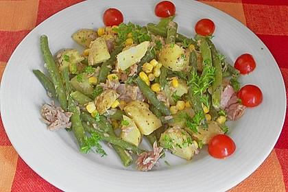 Thunfischsalat mit Kartoffeln und Bohnen