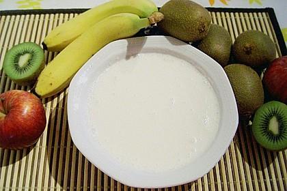 Exotische Früchte mit QimiQ - Kokos - Creme 1