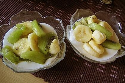 Exotische Früchte mit QimiQ - Kokos - Creme