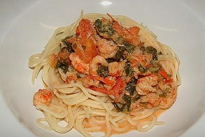 Bärlauch - Pasta mit Flusskrebsen