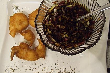 Garnelen im Tempurateig mit buntem Pfeffer und Chilidip
