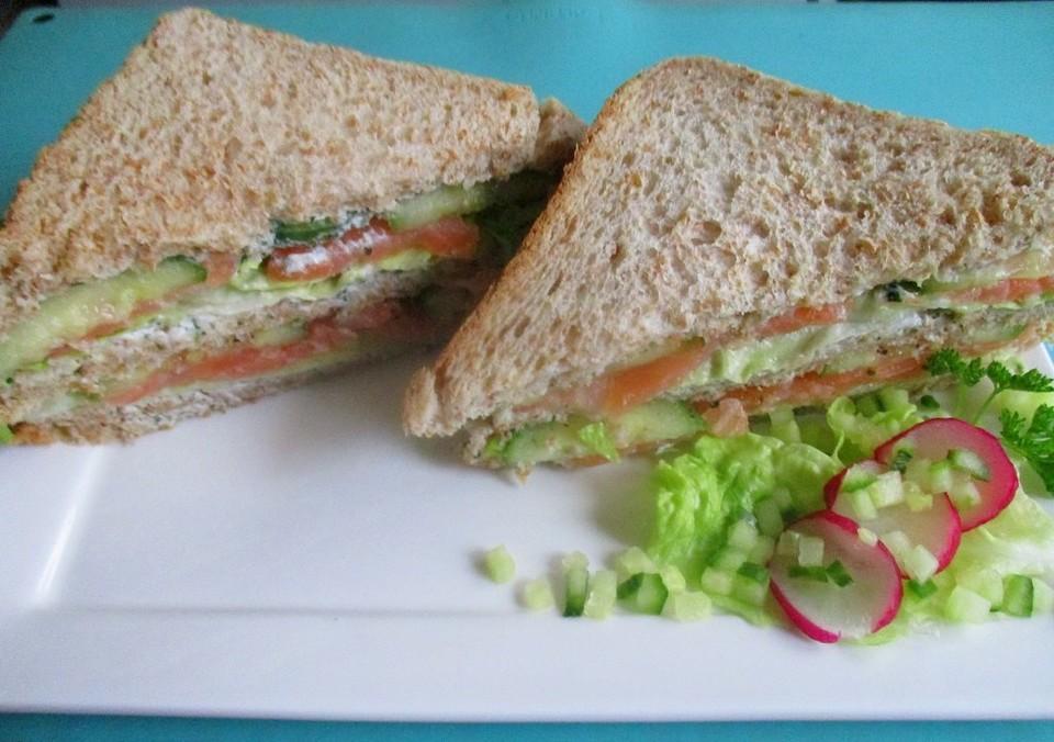 sandwich mit lachs und kr uterquark rezept mit bild. Black Bedroom Furniture Sets. Home Design Ideas