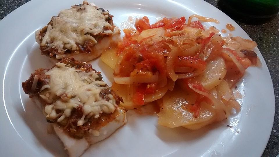 illes schnelle und schmackhafte tomaten zwiebel kartoffel gem se beilage von illepille. Black Bedroom Furniture Sets. Home Design Ideas