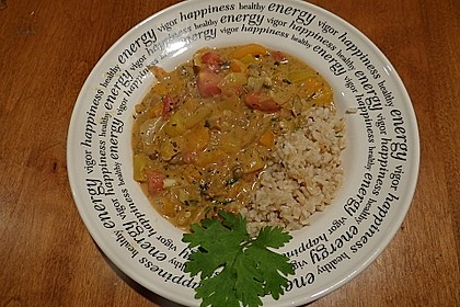 Einfaches, vegetarisches Curry 4