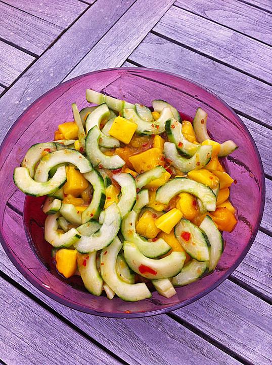 gurken mango salat rezept mit bild von knulli. Black Bedroom Furniture Sets. Home Design Ideas