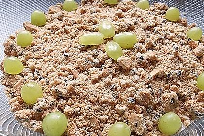Schichtdessert mit Weintrauben 25