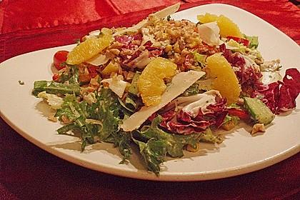 Rucola - Salat an Himbeer - Gorgonzola - Dressing 1