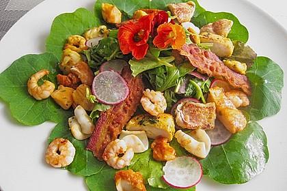 Salade van het huis - belgischer Salat mit Meeresfrüchten