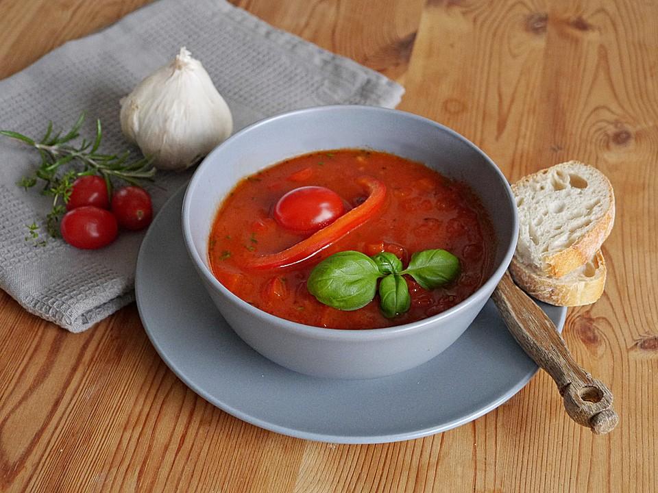 einfache paprika tomaten suppe von elanda. Black Bedroom Furniture Sets. Home Design Ideas