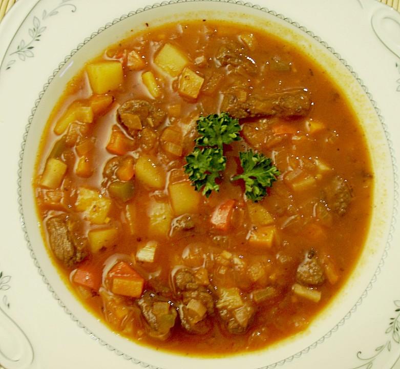 Ungarische gulaschsuppe rezept mit bild von morfel for Ungarische gulaschsuppe