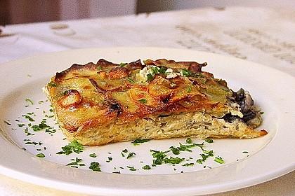 Champignon - Kartoffel - Gratin
