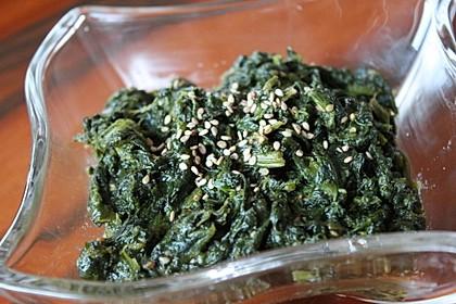 Spinatsalat mit Sesamdressing 2