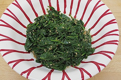 Spinatsalat mit Sesamdressing 4
