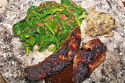 Spinatsalat mit Sesamdressing 10