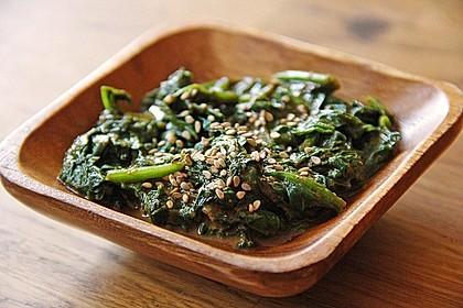 Spinatsalat mit Sesamdressing 1