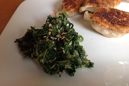 Spinatsalat mit Sesamdressing 8