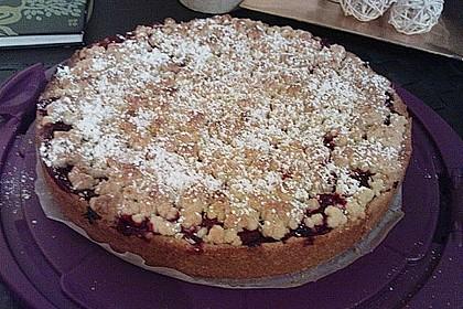 Kirsch-Himbeer-Kuchen mit Kokosstreuseln 41