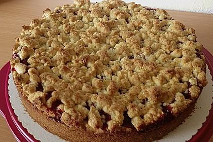 Kirsch-Himbeer-Kuchen mit Kokosstreuseln 12