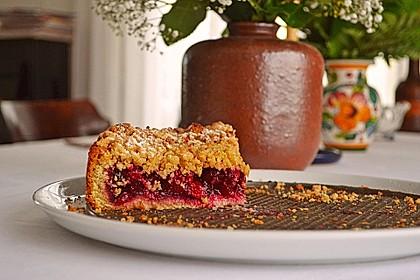 Kirsch-Himbeer-Kuchen mit Kokosstreuseln 55